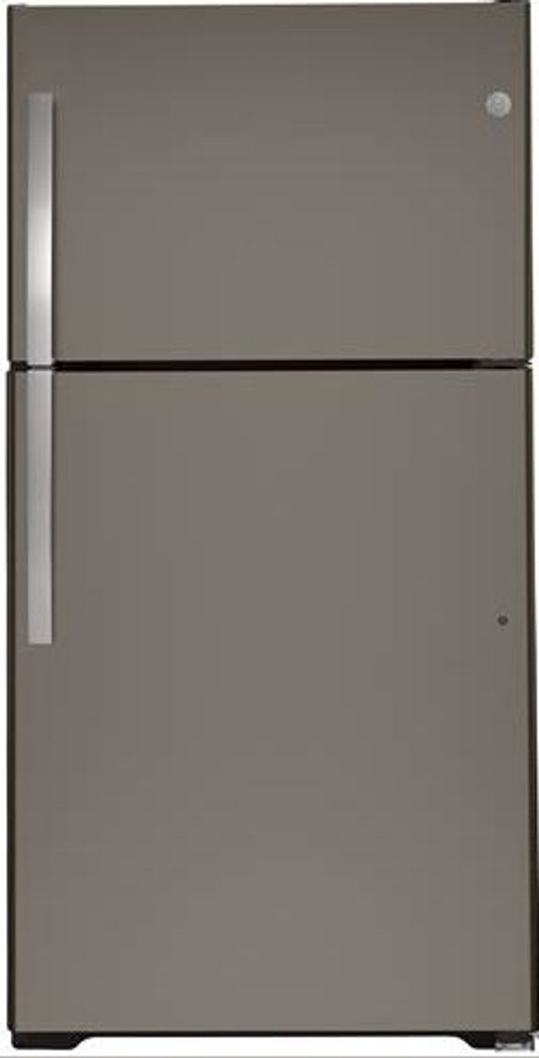Product Photo: 21.9 Slate Top Freezer Refrigerator Energy Star GTE22JMNRES