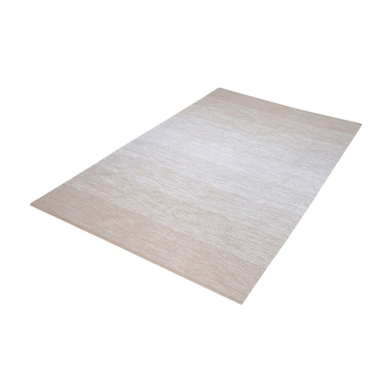 Product Photo: Delight Handmade Cotton Rug In Beige And White 3ft x 5ft 8905030