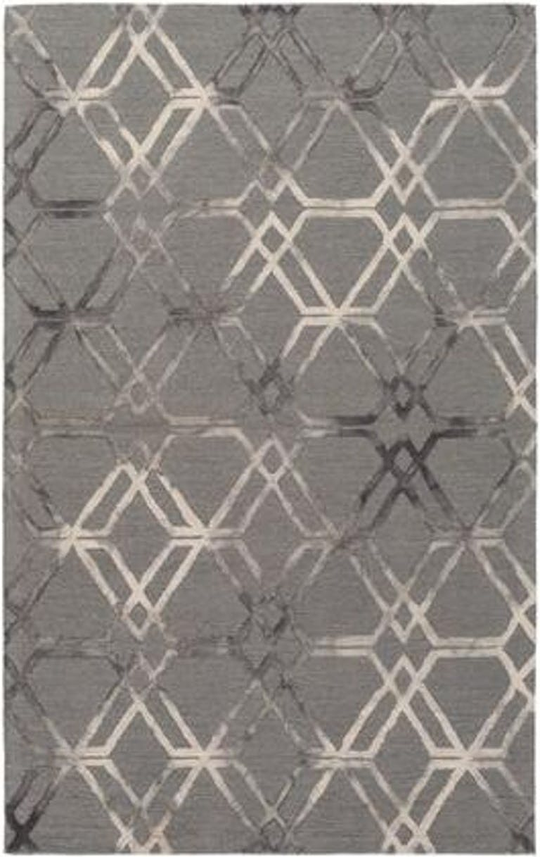 "Product Photo: Serafina 5' x 7'6"" Rectangle Modern Rug in Medium Gray Cream Charcoal SRF2016576"